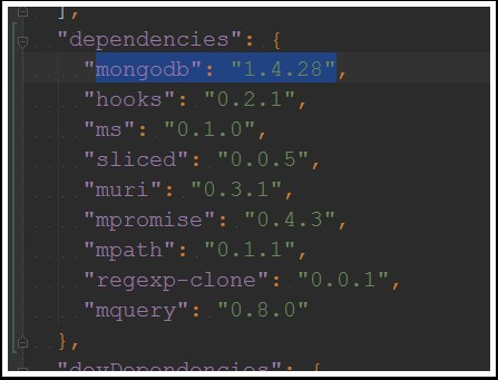 mongodb dependency